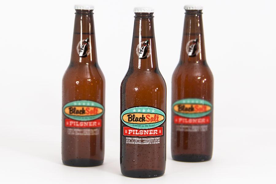 BlackSalt Pilsner Beer Label Design Perth