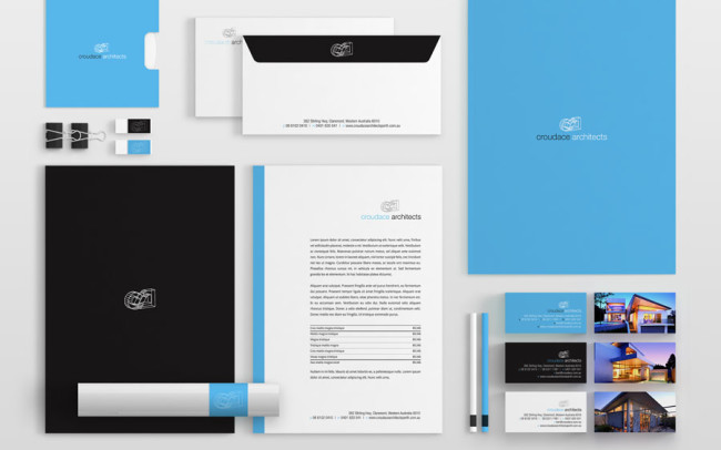 Branding Stationery Design Croudace Architects