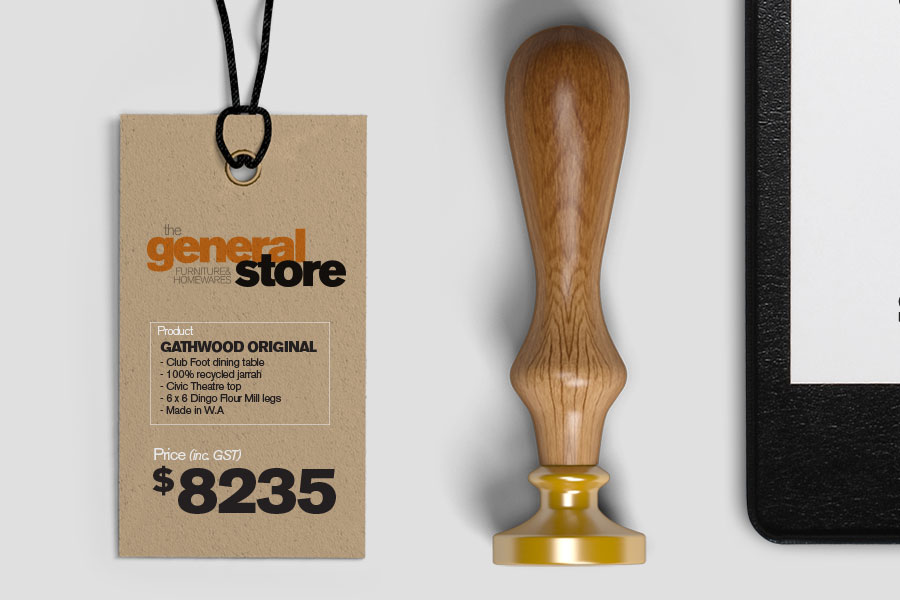 Store product hangtag design