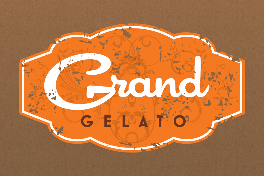 grand gelato logo design