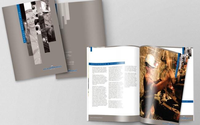 Annual Report graphic design mining perth