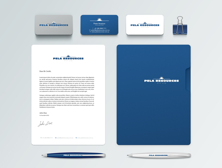 Peel Resources Stationery Graphic Design