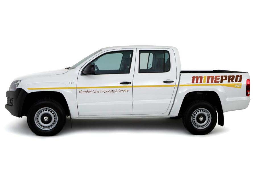 Mine Pro Logo Vehicle Graphics Branding
