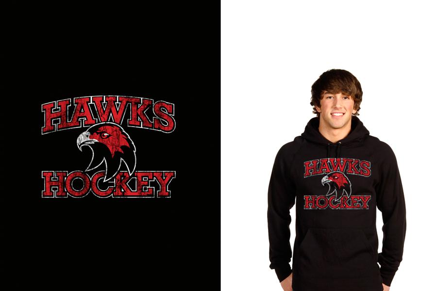 Cockburn Hawks Ice Hockey Team Hoodie design