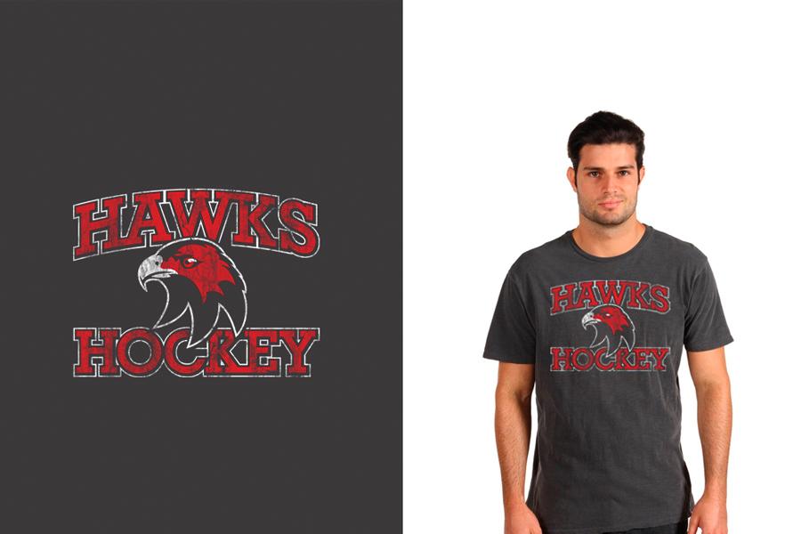 Cockburn Hawks Ice Hockey Team T-shirt design