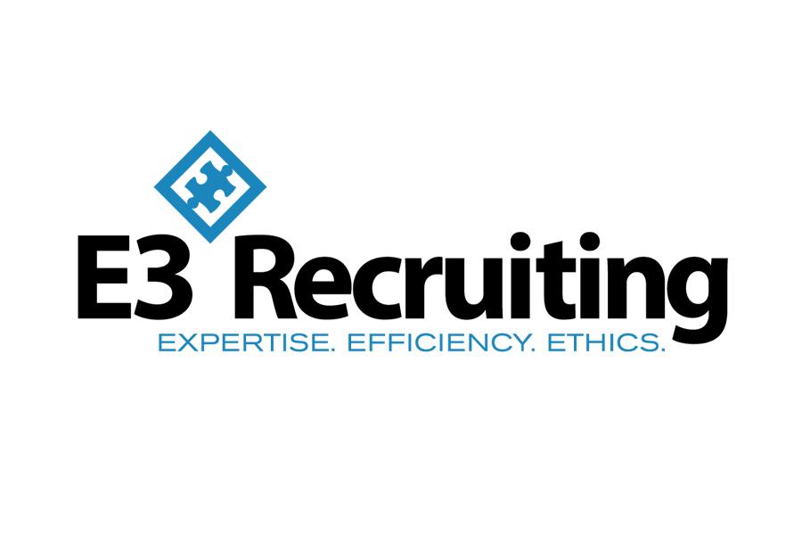E3 Recruiting Logo Graphic Design