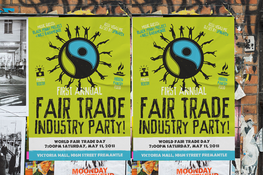 Fair Trade Freo Poster Graphic Design
