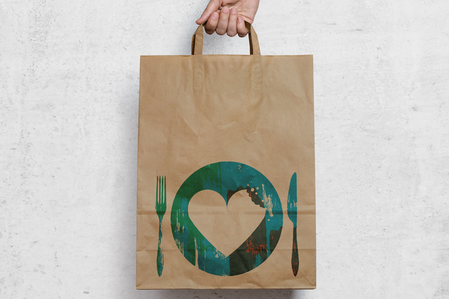 The Hidden Pantry Sustainable Brand & Logo Graphic Design Recycled Bag