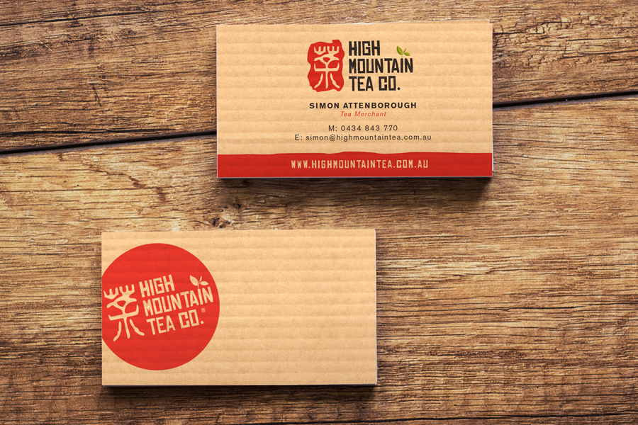 High Mountain Tea Business Card Branding Stationery Design