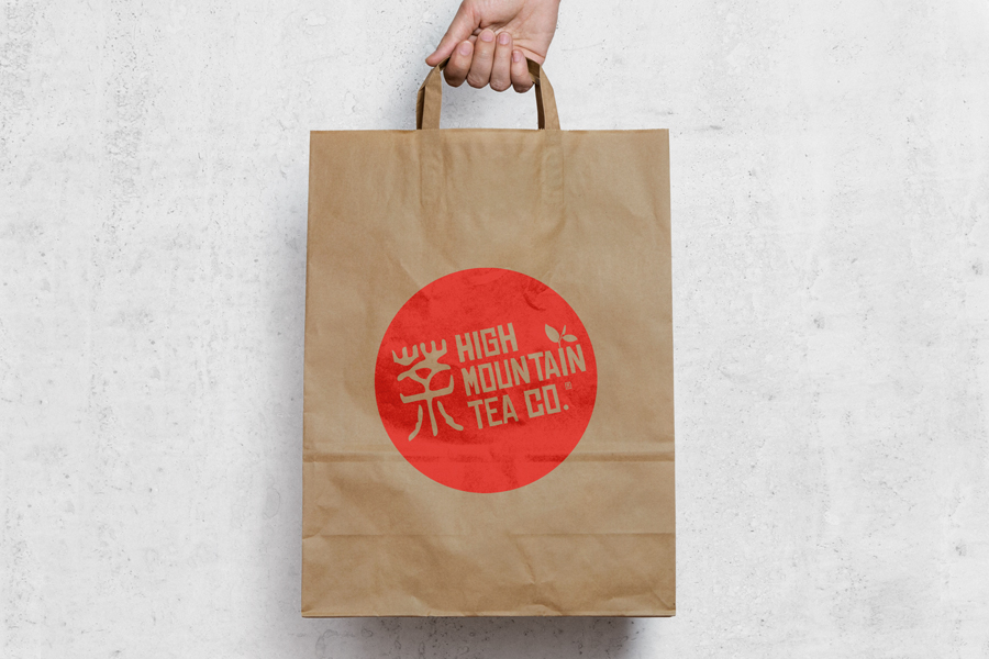 High Mountain Tea Recycled Paper Bag Design