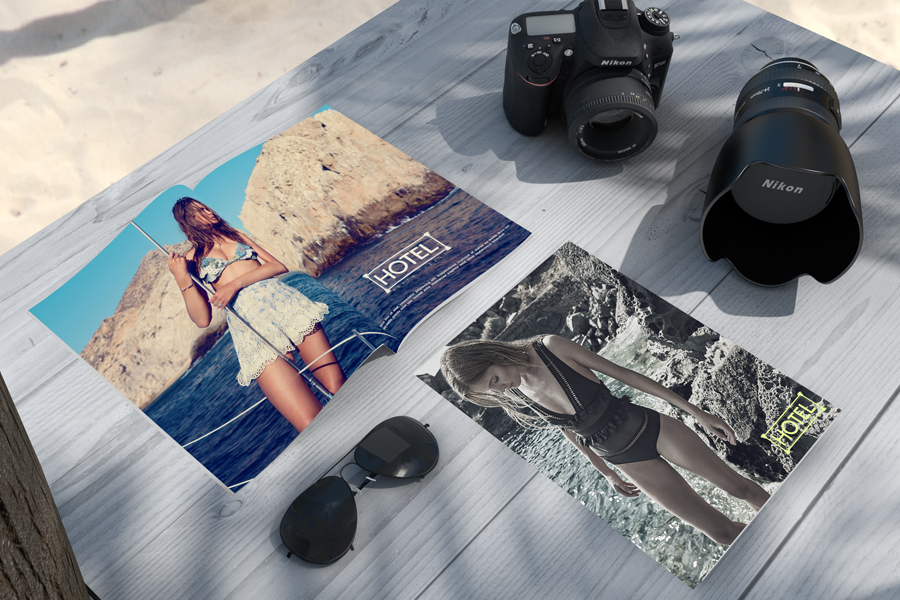 Hotel Womens Luxury Resort Wear Brand Identity magazine catalogue layout