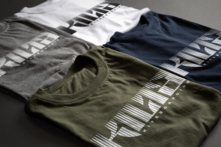 Kilta Kiteboarding Brand Font & Logo T-shirt Design Fremantle