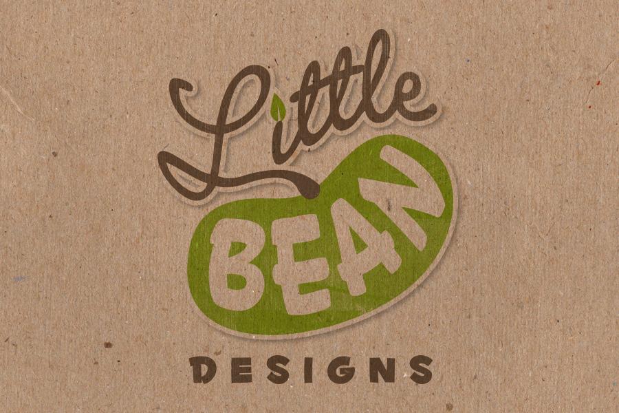 Little Bean Children's T-shirt Clothing Brand Logo Design