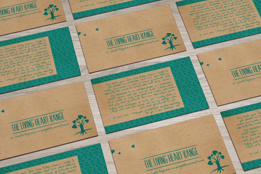 The Living Heart Range Business Card Design Fremantle