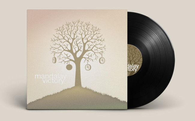 Mandalay Victory Album Vinyl Jacket Cover Design Illustration