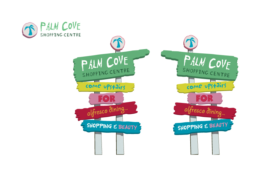 Palm Cove Shopping Centre Place Branding and Signage Graphic Design