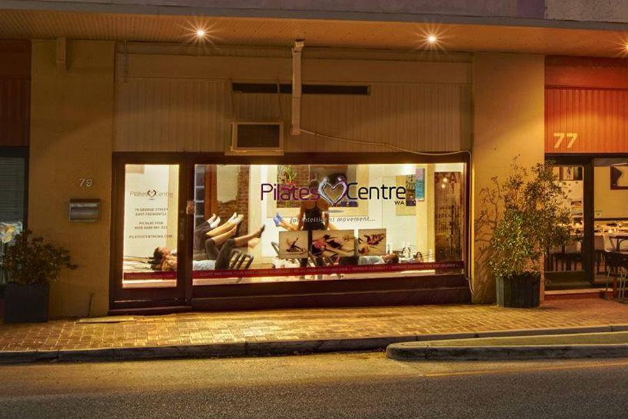 The Pilates Centre WA Logo Window Facade Graphic Design Fremantle