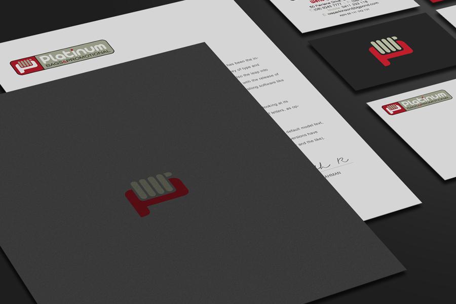 Platinum Bags Branding Stationery Graphic Design Fremantle Closeup