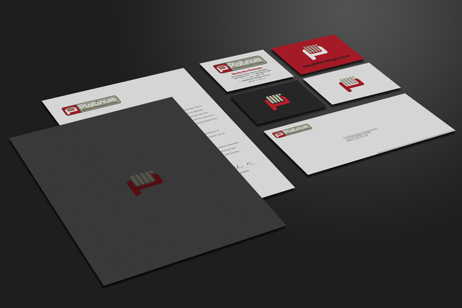 Platinum Bags Branding Stationery Graphic Design Fremantle