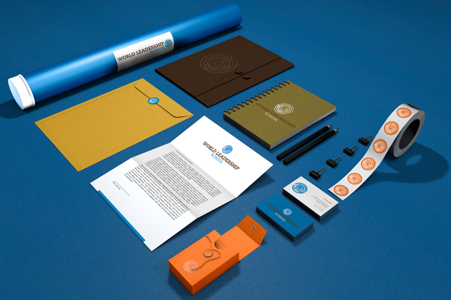WLS Stationery Branding Graphic Design Recycled Paper Sustainable