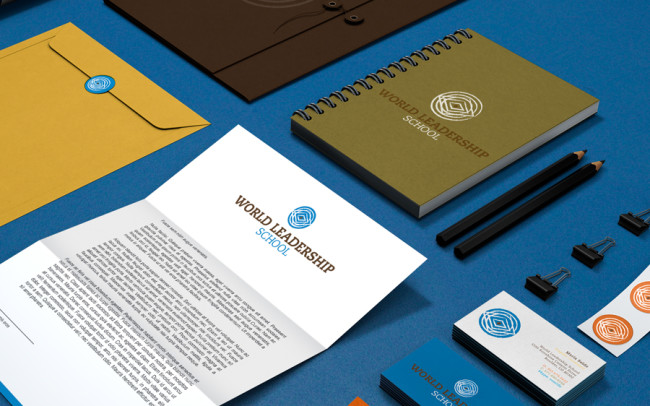 WLS Stationery Branding Graphic Design Recycled Paper Sustainable Closeup