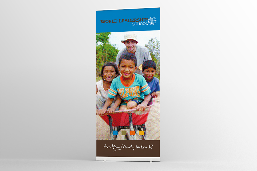 WLS Conference Pull Up Banner Graphic Design