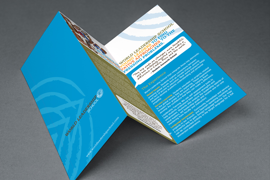 WLS Recycled Paper Trifold Flyer Sustainable Graphic Design
