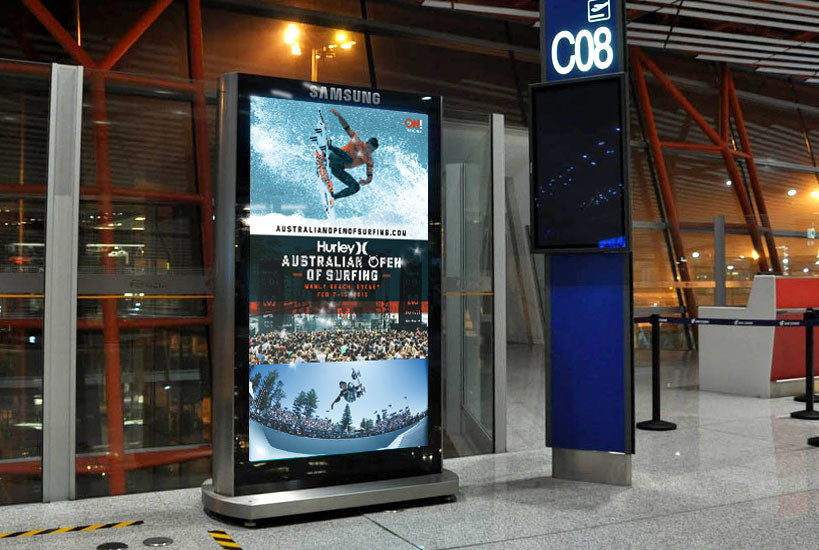 Australian Open of Surfing 2015 Digital Airport Advertising Graphic Design