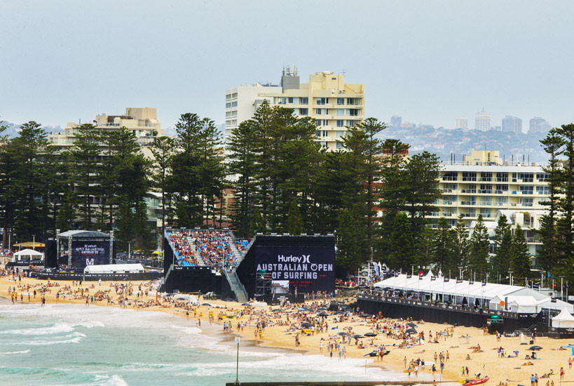Australian Open of Surfing 2015 Event Flags, Banners and Signage Graphic Design