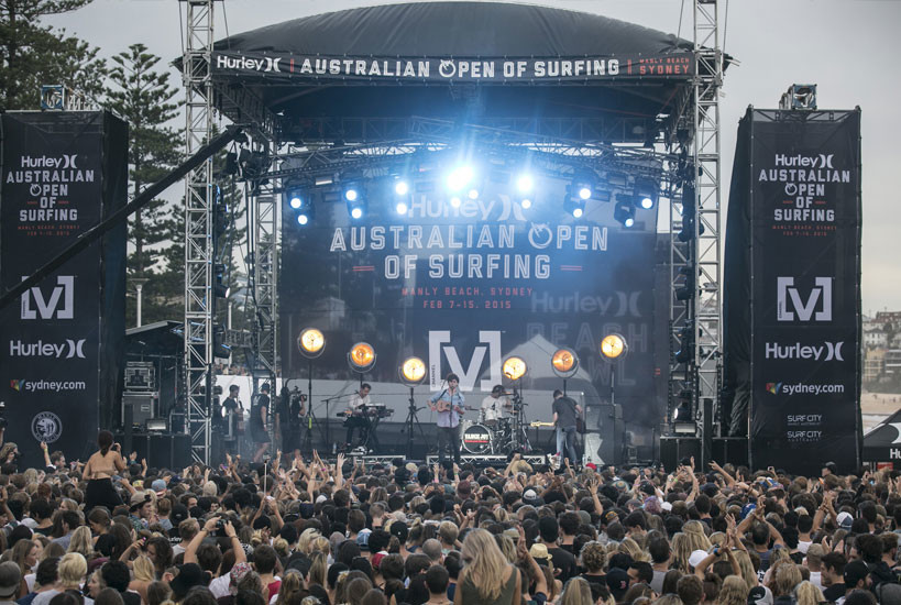 Australian Open of Surfing 2015 Music Event Backdrop Banner Print Graphic Design
