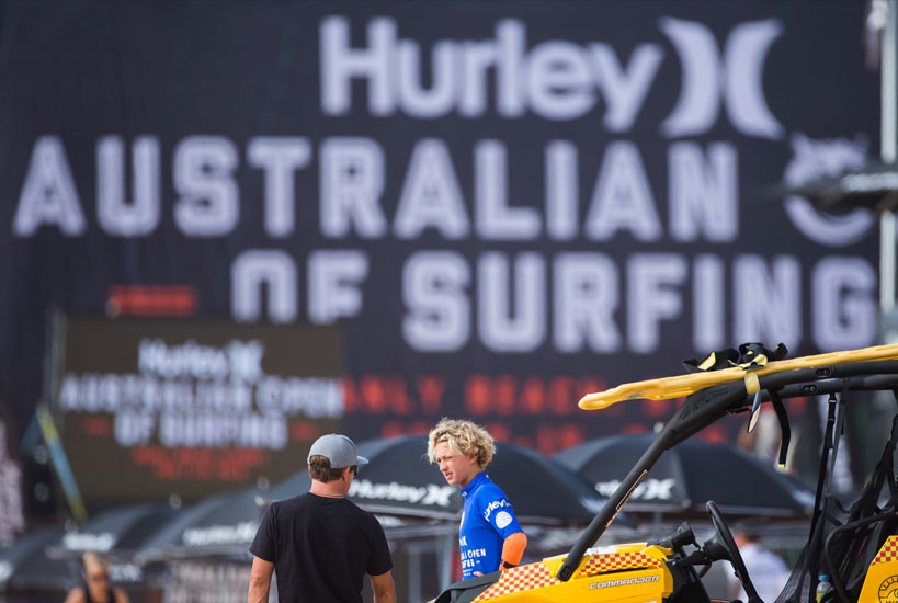 Australian Open of Surfing 2015 Large Format Event Banner Stadium Wraps Graphic Design Services Perth