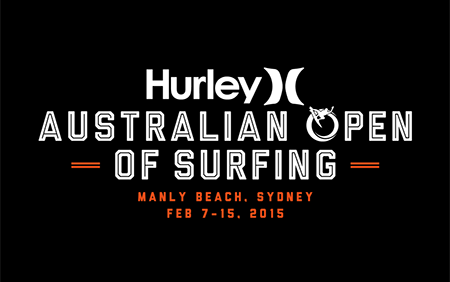 Australian Open of Surfing Event Brand Identity and Logo Design 2014