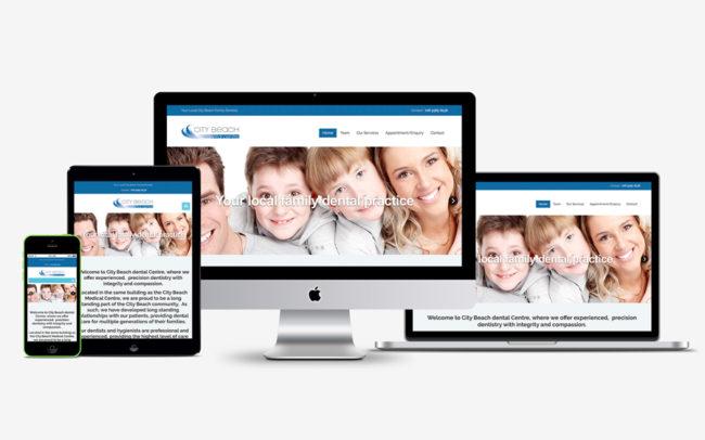 City Beach Dental Mobile Friendly Responsive website design Perth, WA