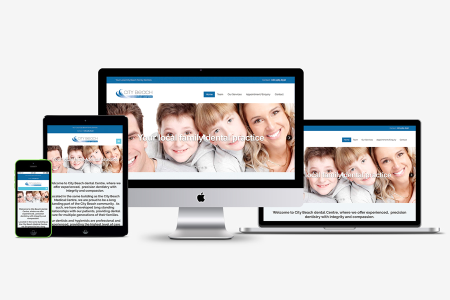 City Beach Dental Mobile Friendly Responsive website design Perth, WA