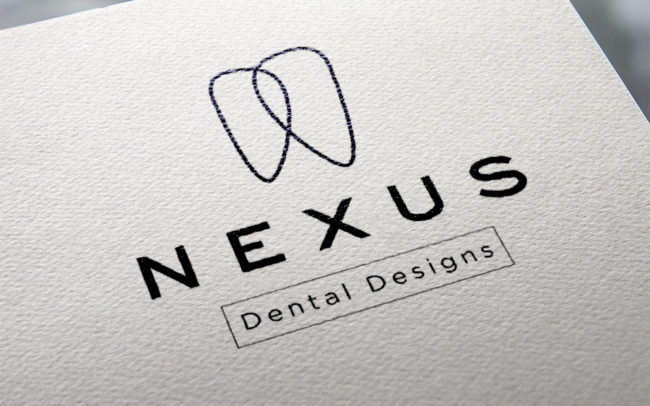 Nexus Dental Designs Logo Design Closeup