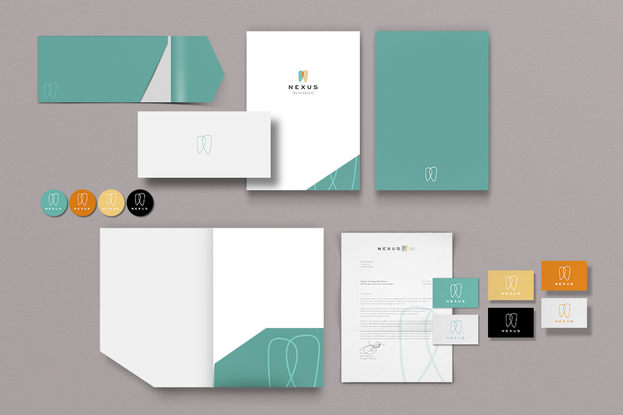 Nexus Dental Designs Logo Branding Stationery Design Perth
