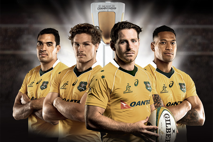 ARU Wallabies Poster Magazine Advertising Rugby Championship Graphic Design Services Perth WA