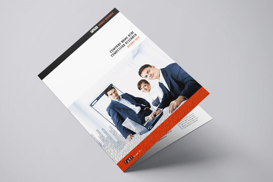 Code Market Research IT Company A4 Brochure Company Report Graphic Design Perth Fremantle WA