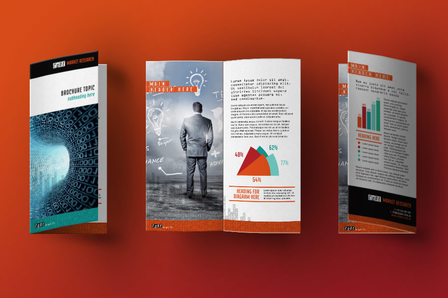 Code Market Research IT Company DL Brochure Graphic Design Perth Fremantle WA