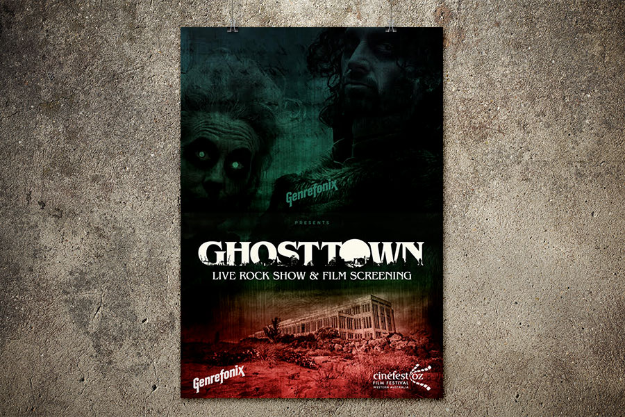 Genrefonix Ghosts of Fremantle Gig Poster Design Illustration and Graphic Design Fremantle and Perth WA