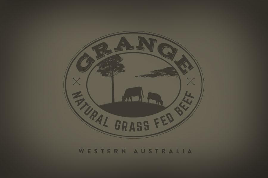 Grange Beef Butcher Logo Brand Design & Illustration Fremantle Perth WA