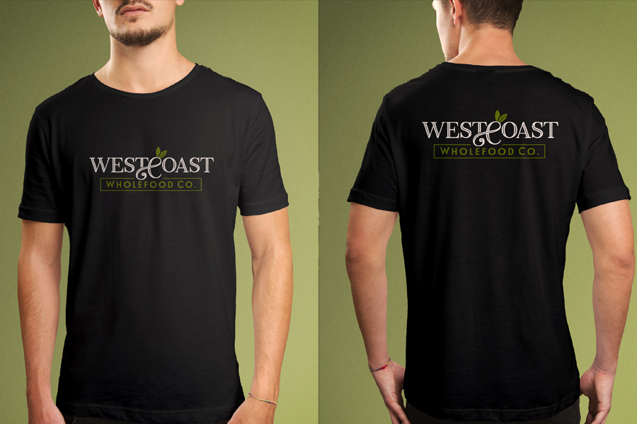 Wholefoods Natural Food Brand Branding T-Shirt Design Fremantle Perth WA