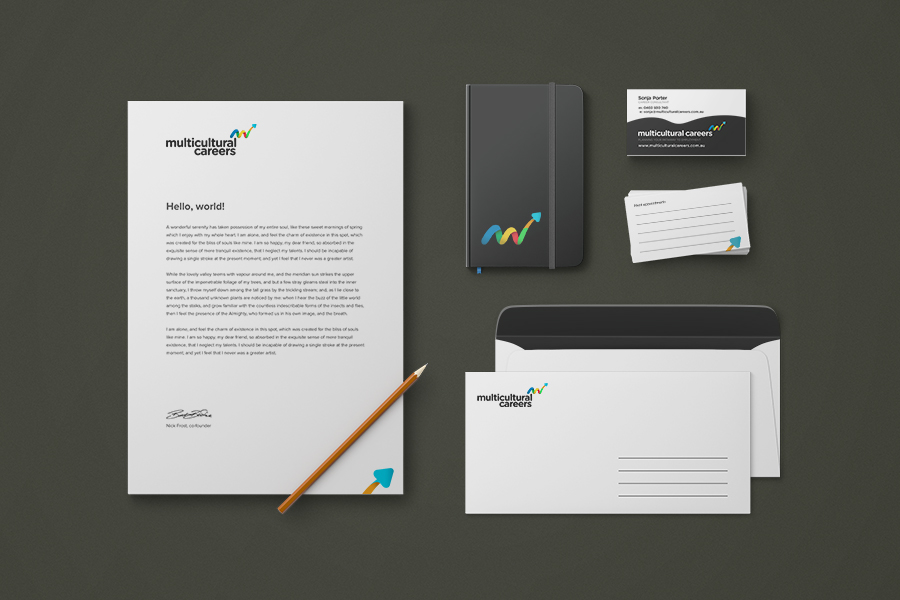 Multicultural Careers Stationery Design & Branding Company Fremantle Perth WA Stacked Logo
